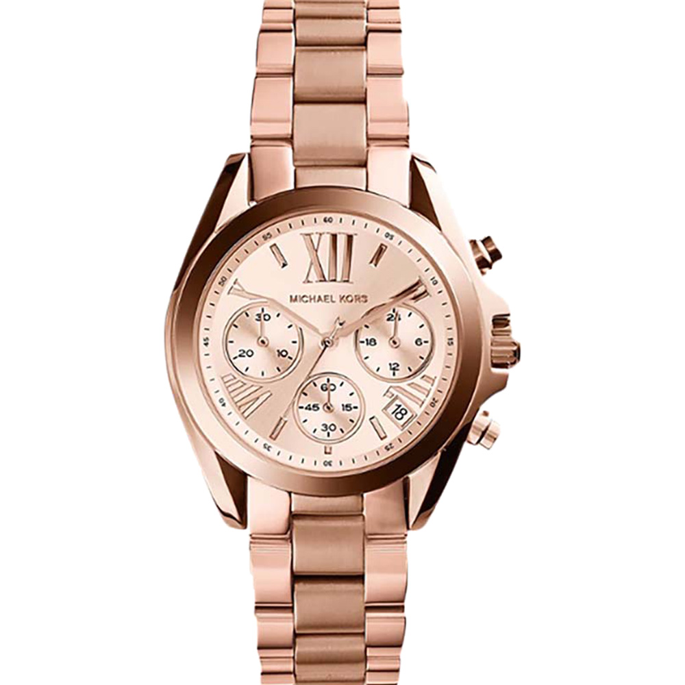 Michael Kors Mini Bradshaw MK5799 Chronograph Rose Gold Womans Watch