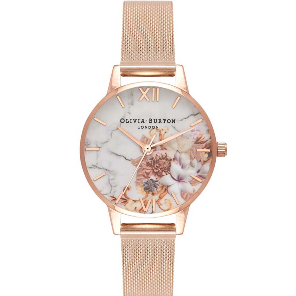 OB16CS06 Olivia Burton Womens Floral Watch