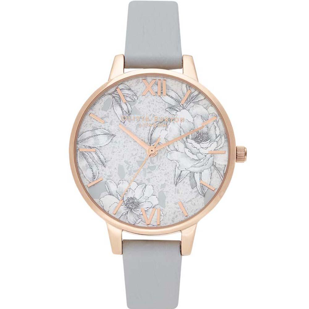 OB16TZ01 Olivia Burton Terrazzo Floral Light Grey Rose Watch
