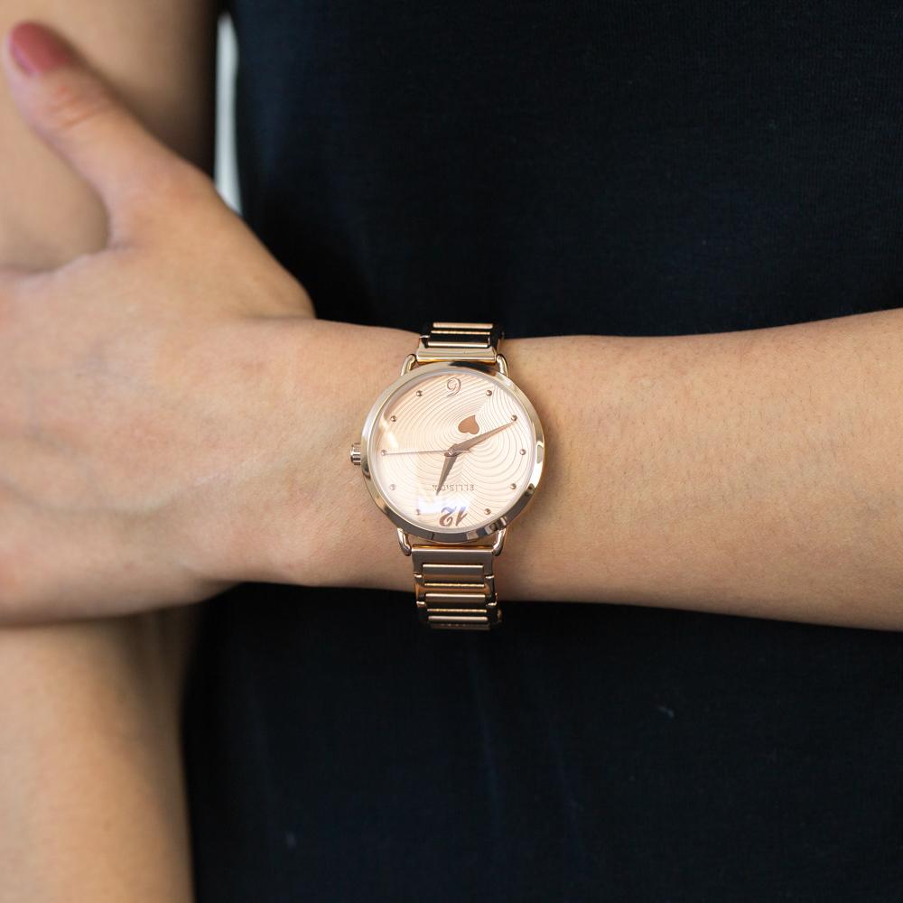 Ellis & Co 'Milana' Rose Gold Plated Women's watch