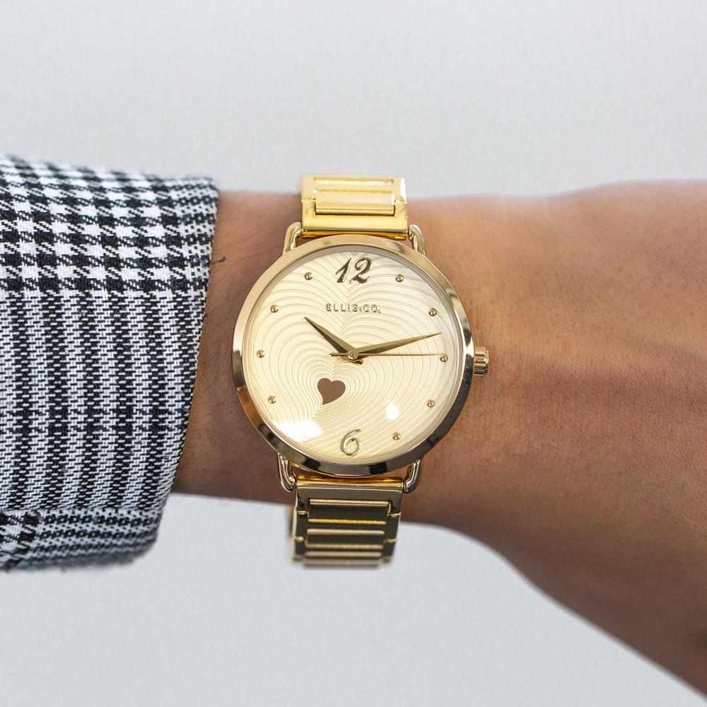 Ellis & Co 'Milana' Gold Tone Womens Watch