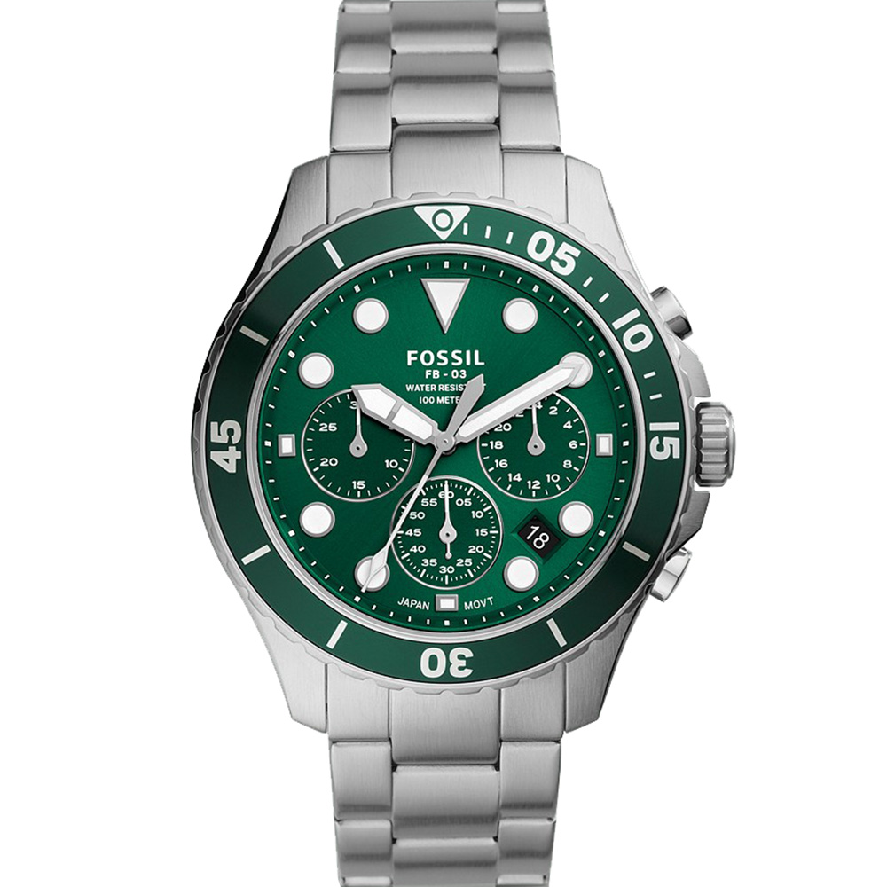 Fossil FB-03 FS5726 Green Mens Watch