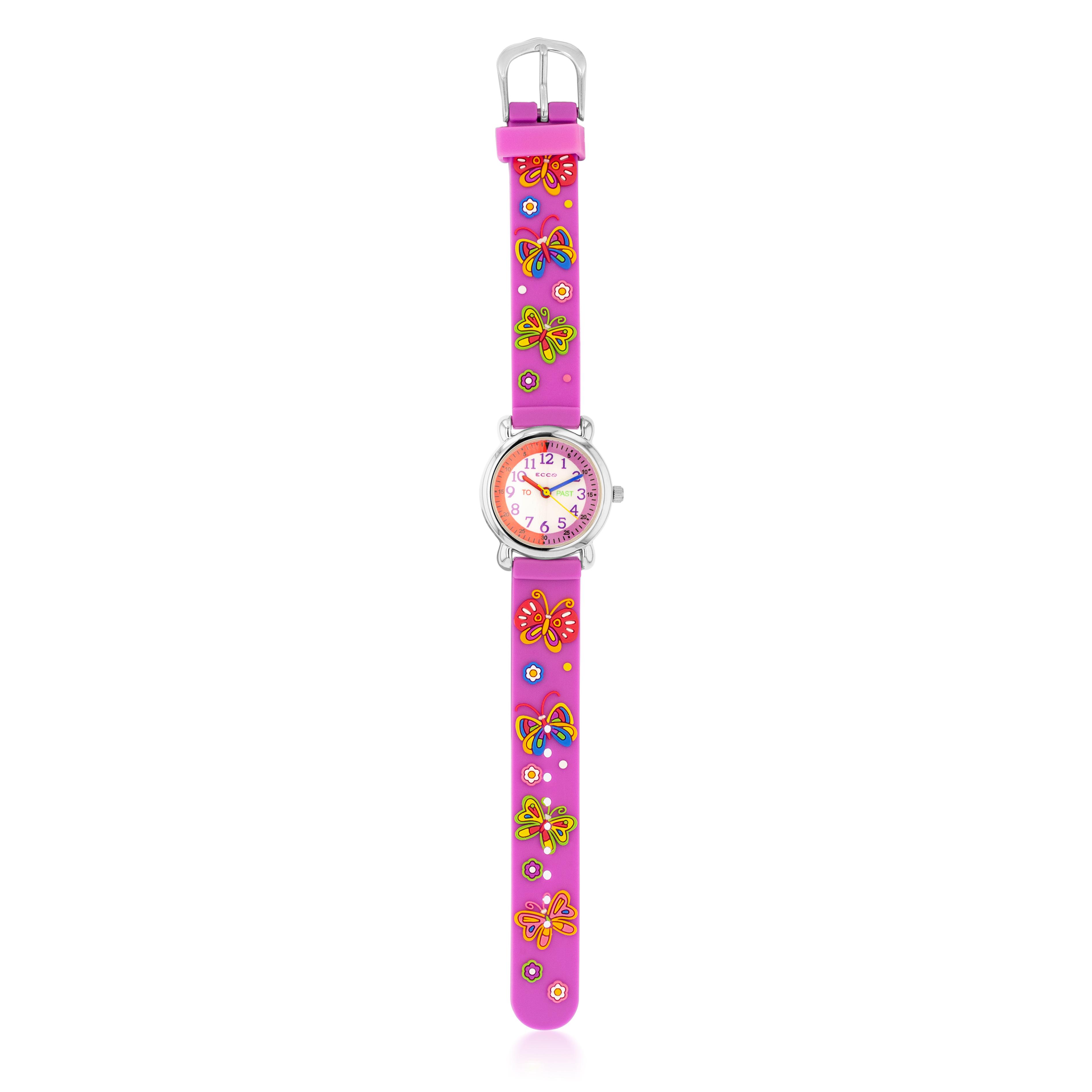 ECC  Pink Butterfly Watch