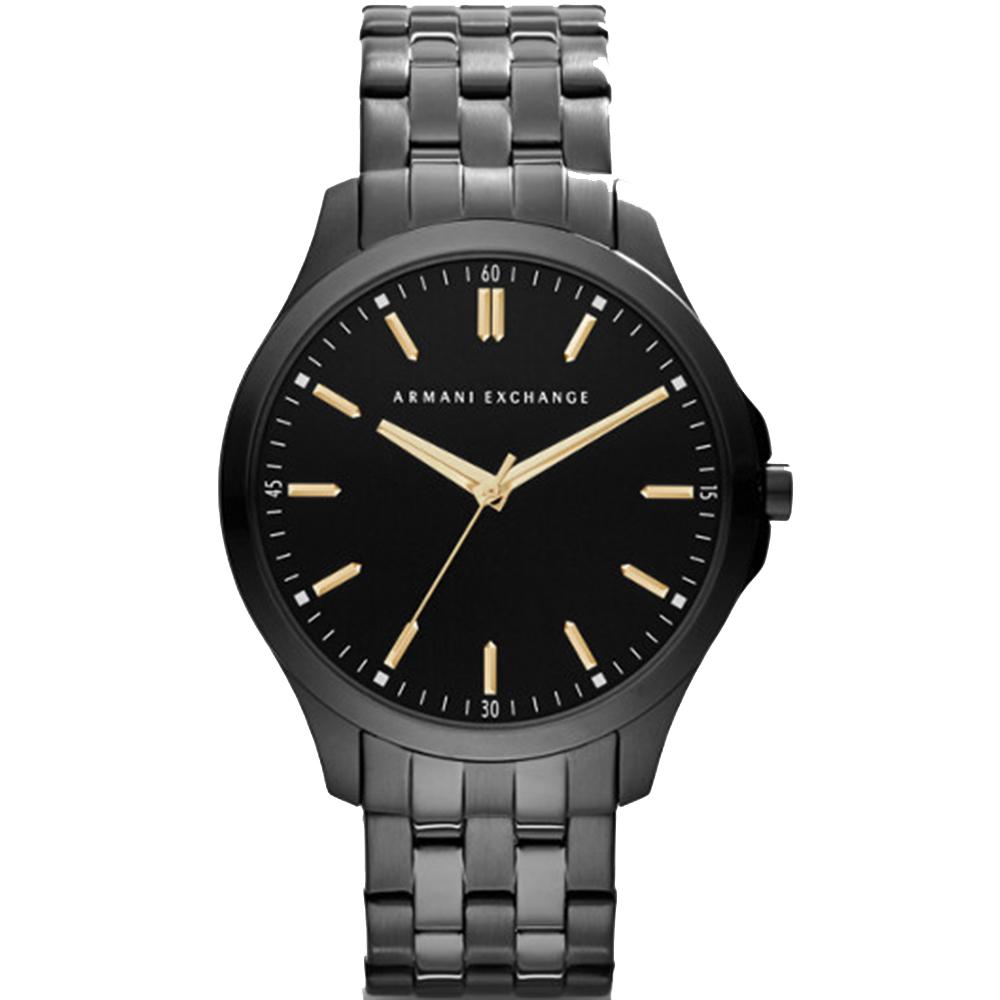 Armani Exchange Hampton AX2144 Black & Grey 50Metres Water Resistant Mens Watch