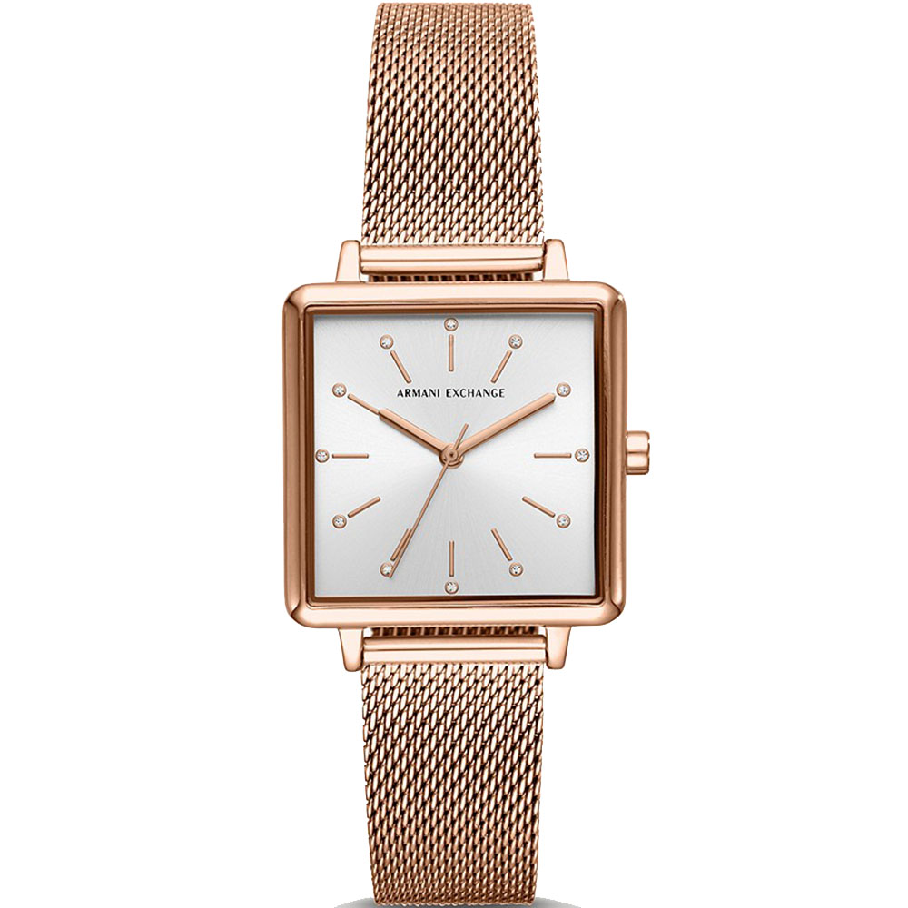 Armani Exchange AX5802 Lola Square Rose Womens Watch