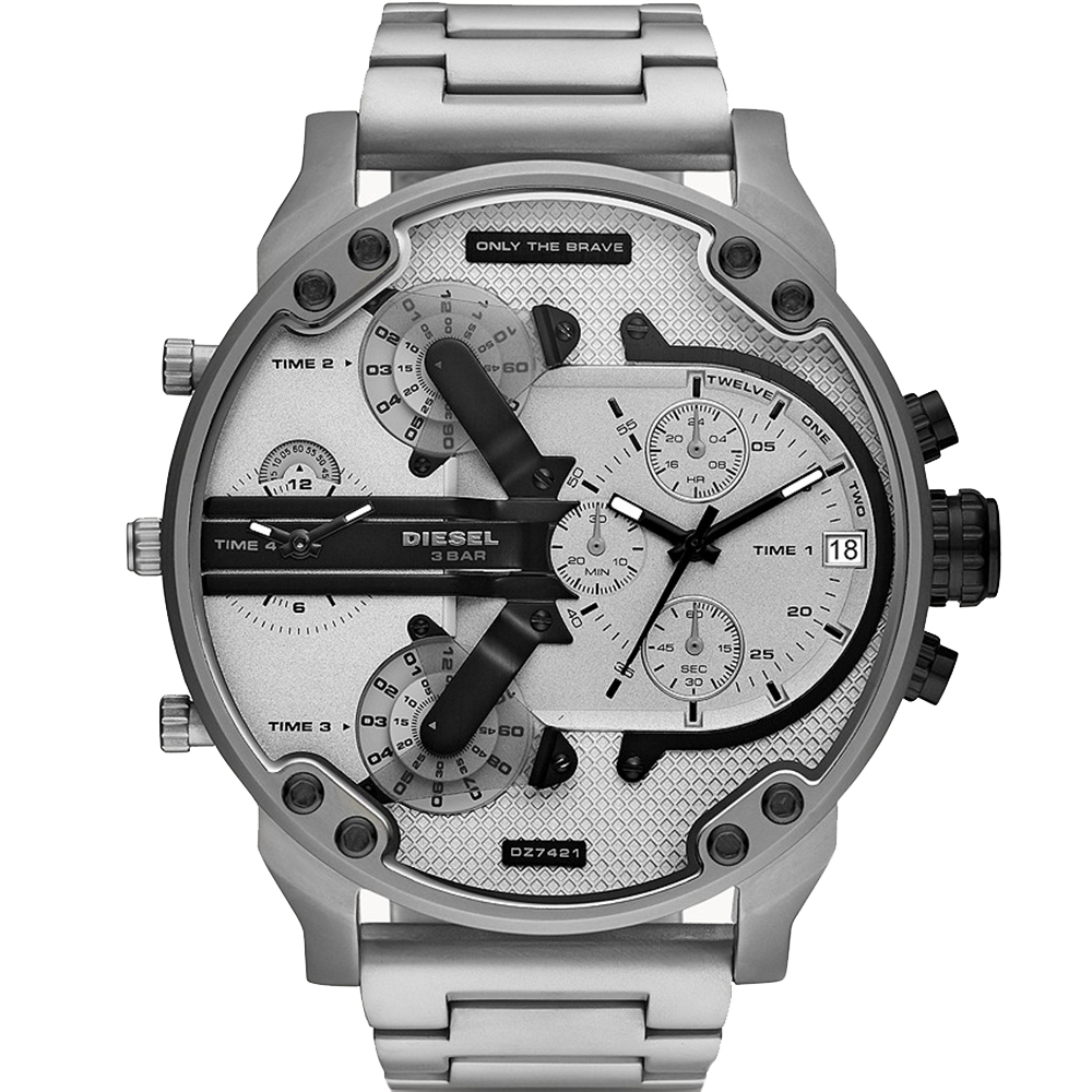 Diesel Mr Daddy 2.0 DZ7421 Silver Mens Watch