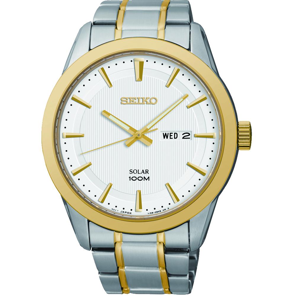 Seiko SNE364J Solar Mens Watch