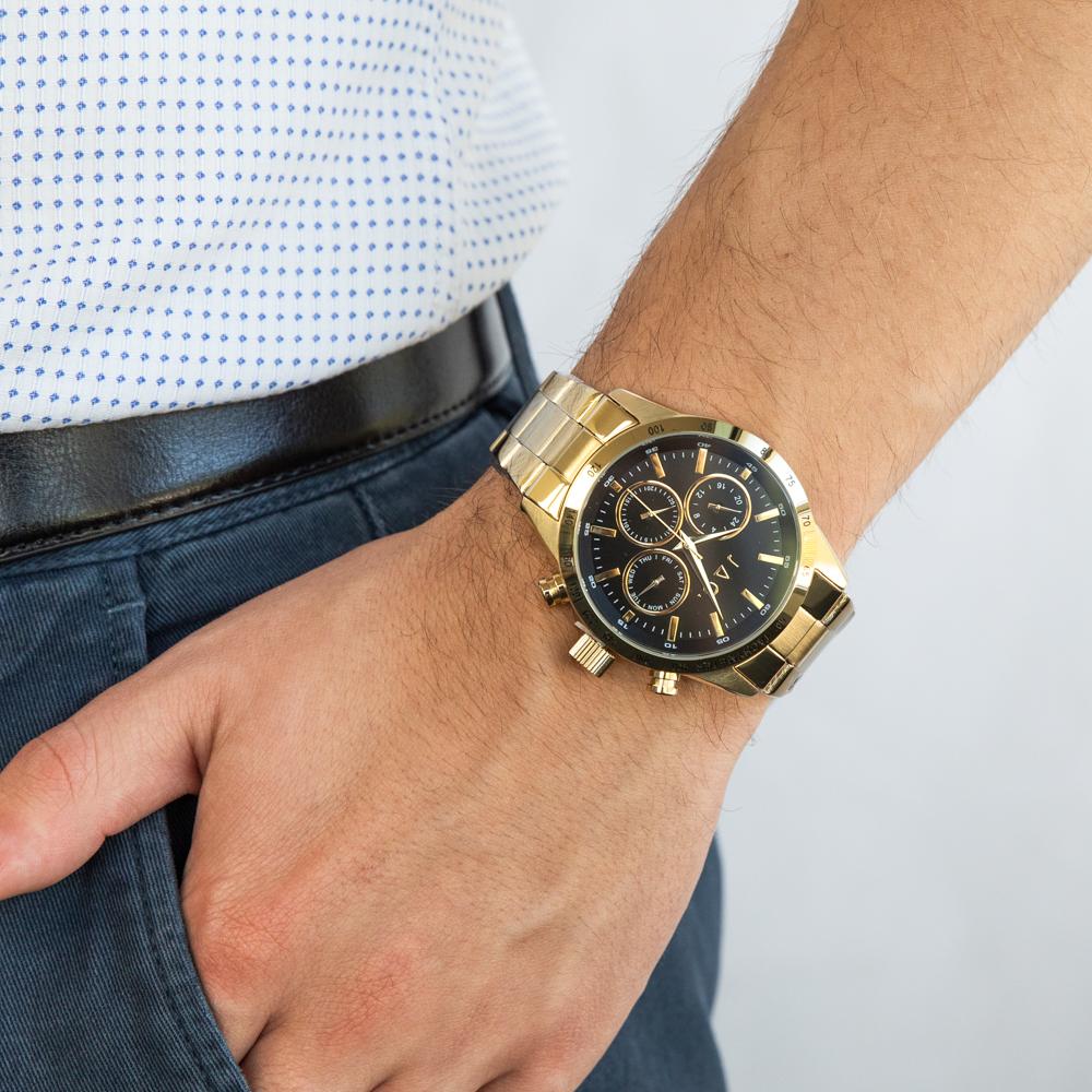 Jag Alain JALAIN-B Multi Dial Gold Mens Watch