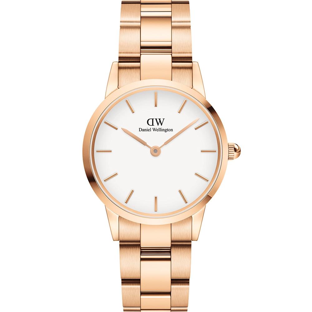 Daniel Wellington Iconic Link DW00100213 Rose Gold Womans Watch