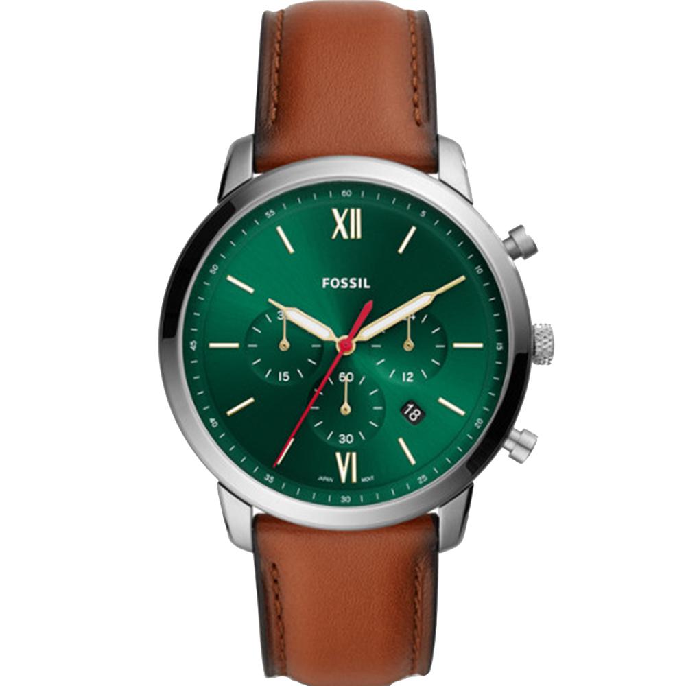 Fossil Neutra FS5735 Green Dial Chronograph Mens Watch