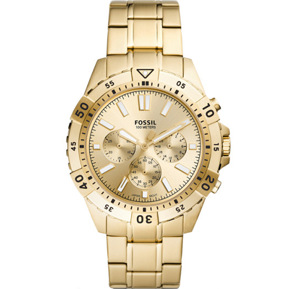 Fossil Garrett FS5772 Chronograph Gold Tone Mens Watch