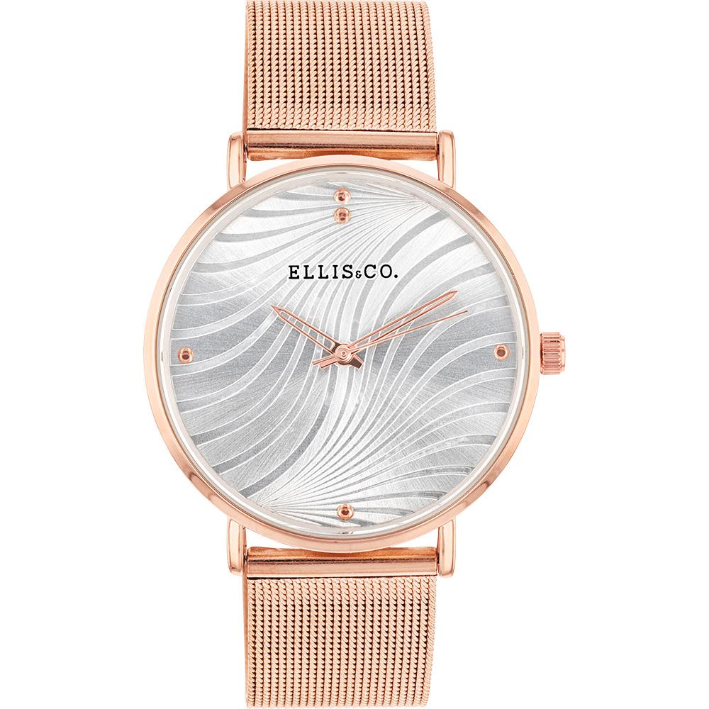Ellis & Co 'Eliza' Stainless Steel Rose Bracelet Womens Watch