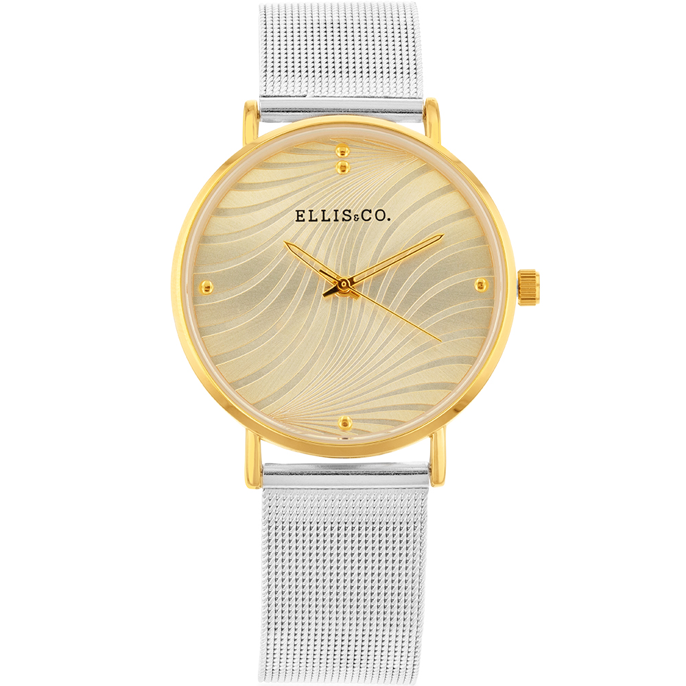 Ellis & Co 'Eliza' Stainless Steel Bracelet Womens Watch