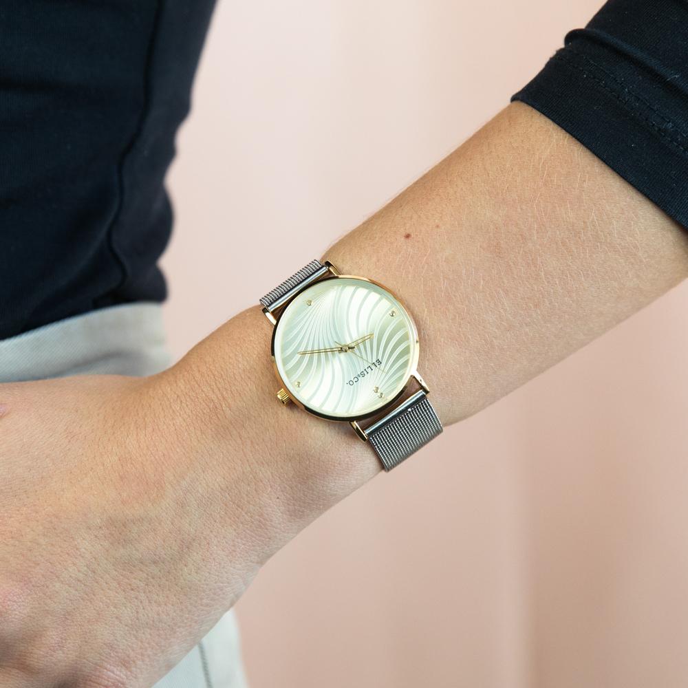 Ellis & Co 'Eliza' Stainless Steel Bracelet Womens Watch