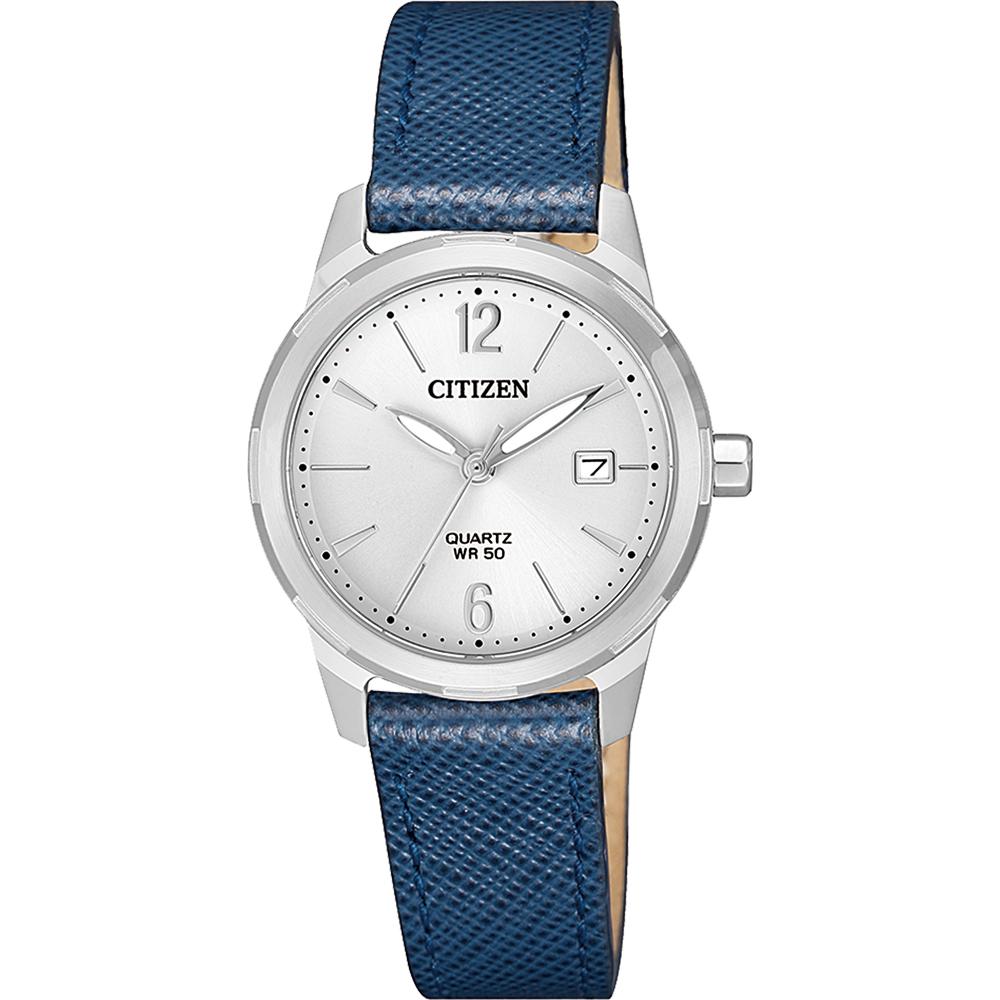 Citizen EU6070-19A Blue Leather Womens Watch