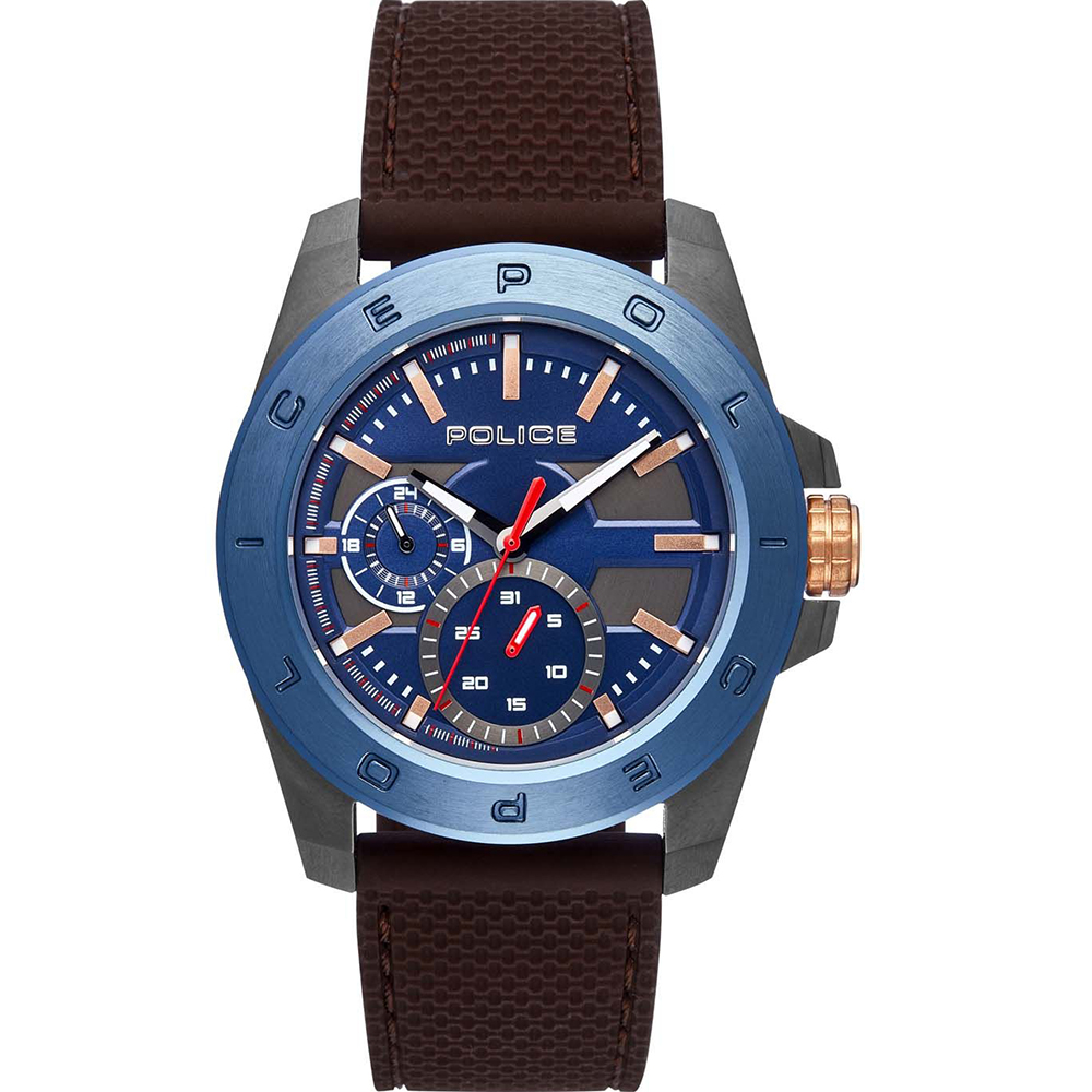 Police Peckhams Blue Dial Mens Watch
