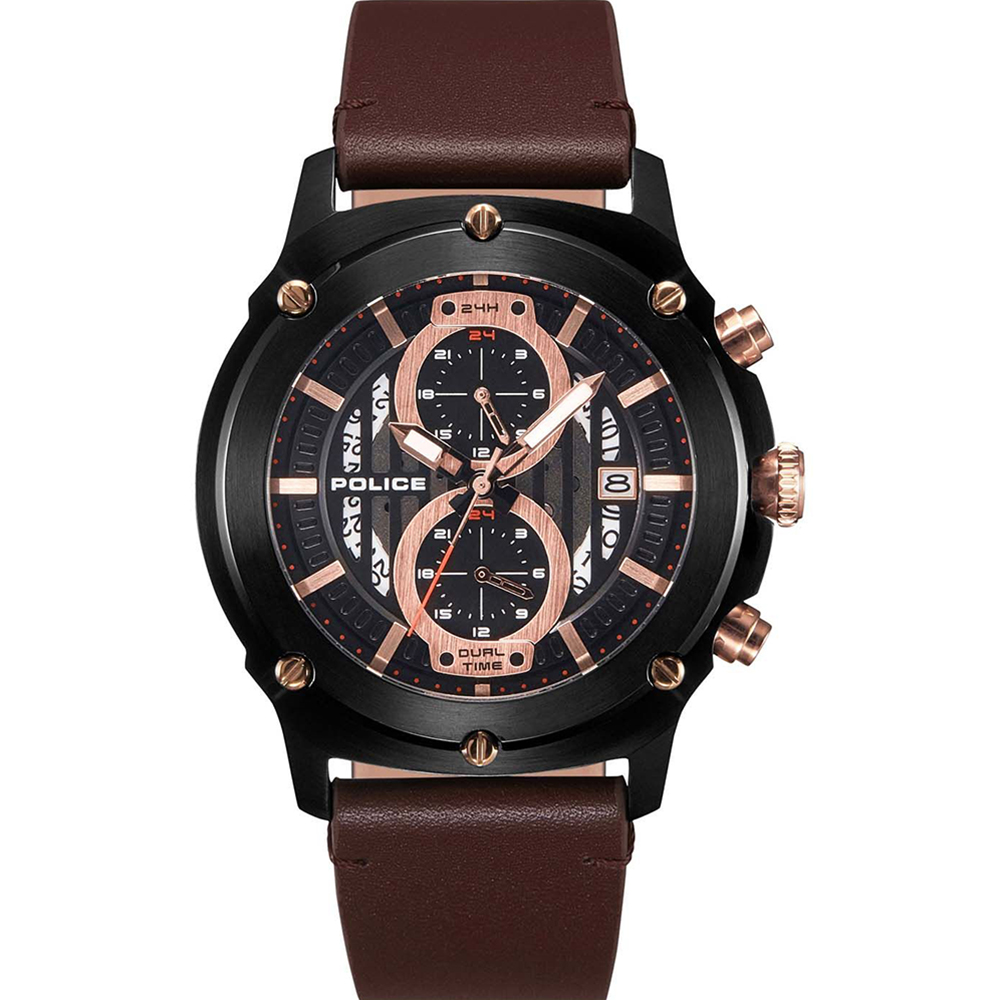 Police Lulworth Brown Mens Watch