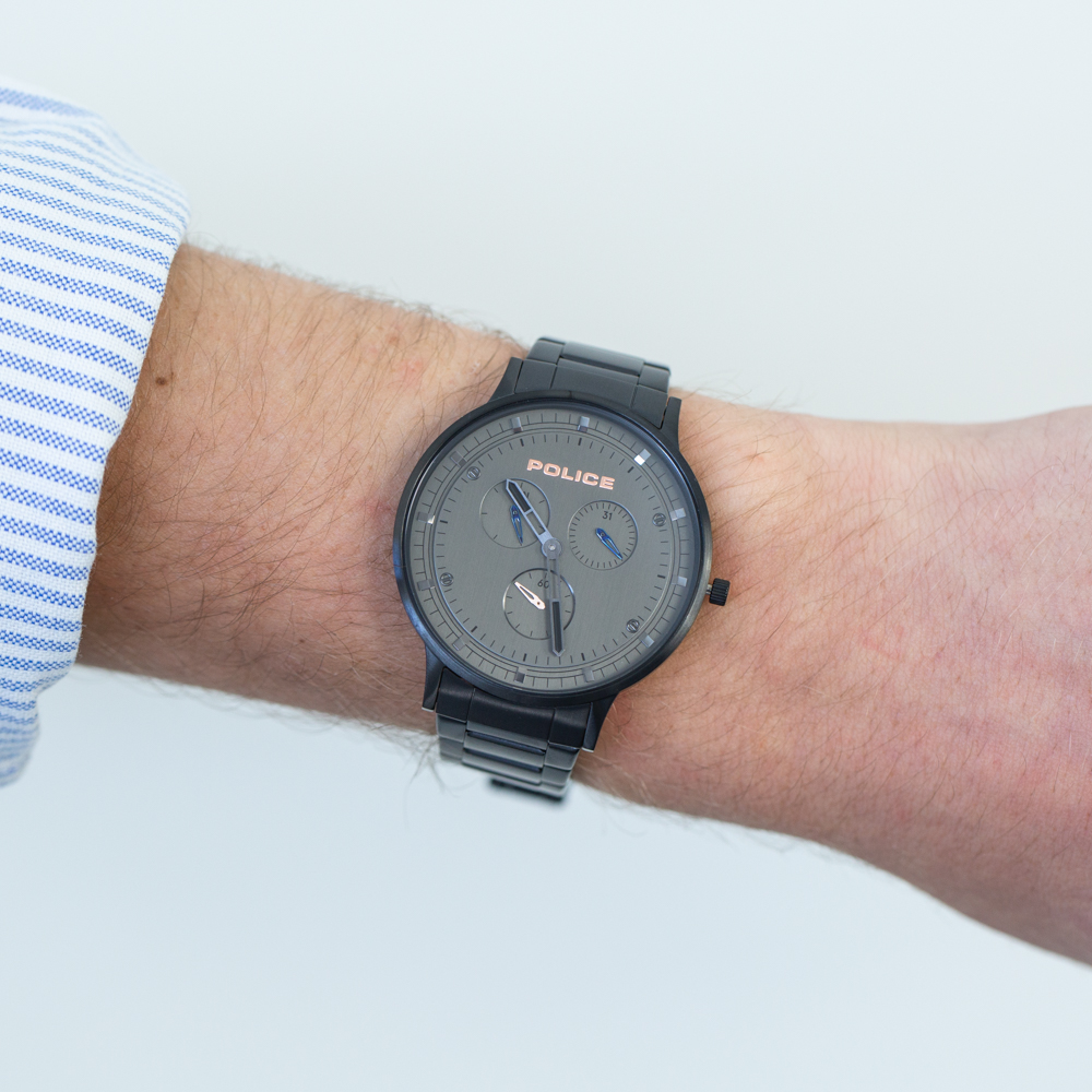 Police Berkeley Black Chronograph Mens Watch