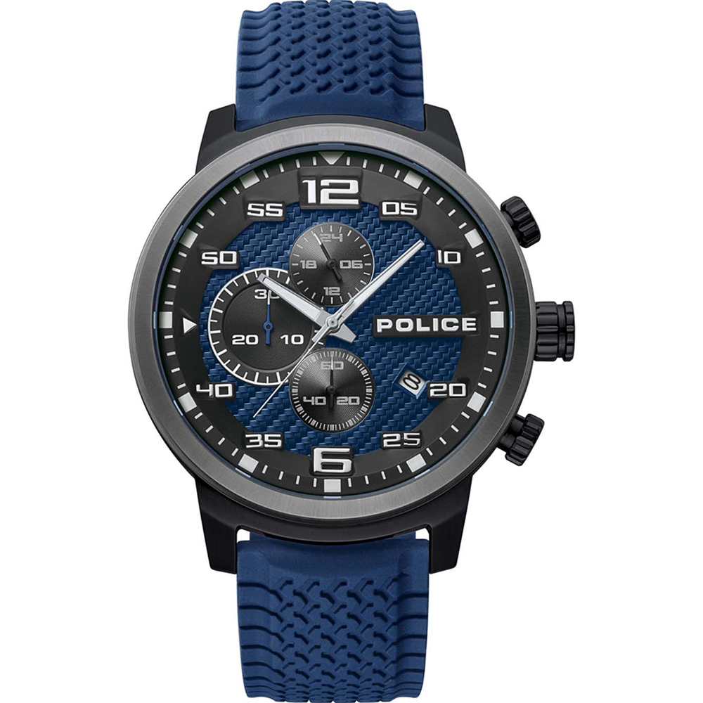 Police Bromo Blue Chronograph Mens Watch