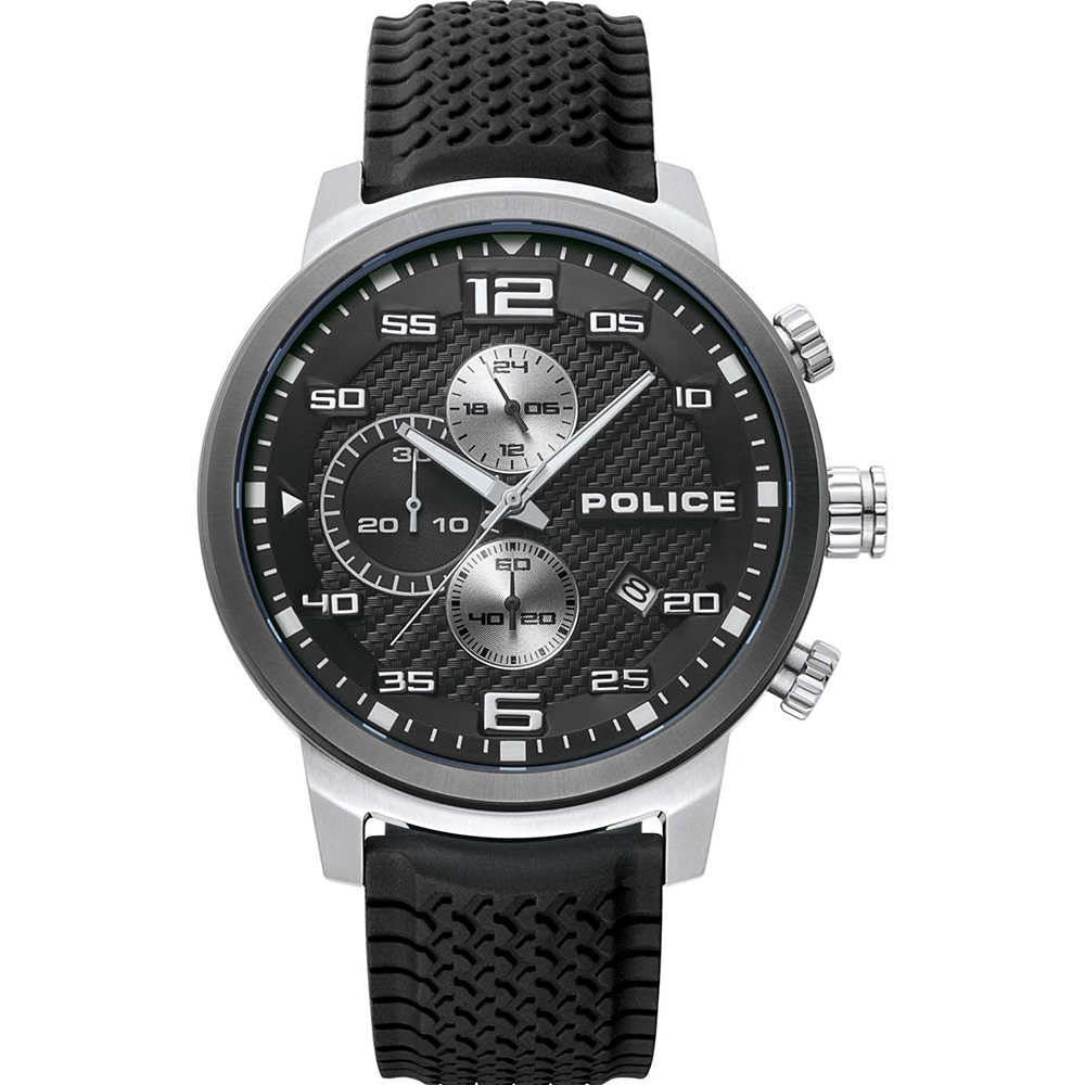 Police Bromo Black Chronograph Mens Watch