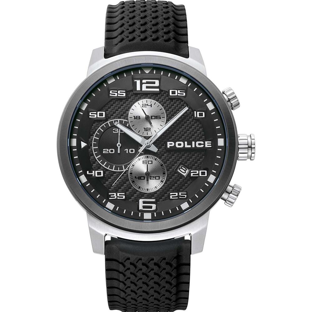 Police Bromo Black Chronograph Mens Watch