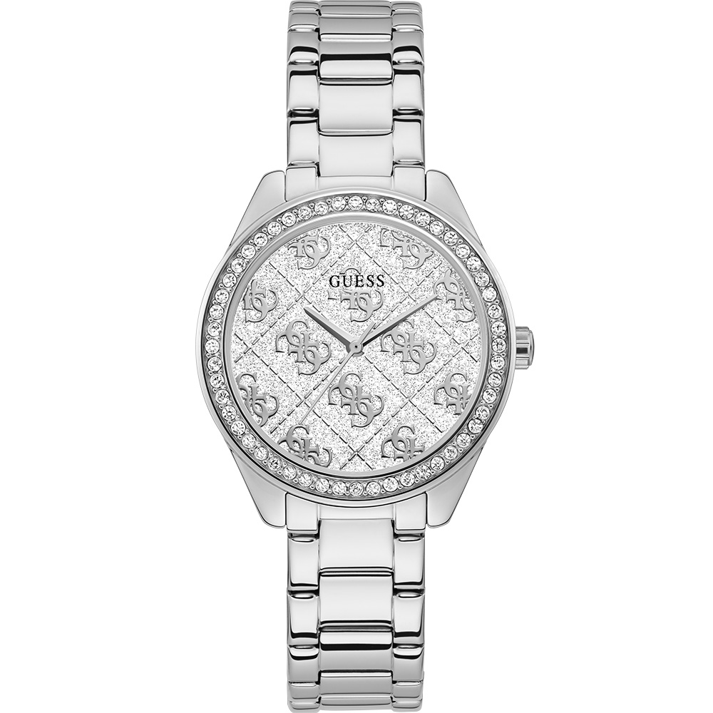 Guess Sugar GW0001L1 Silver Glitter 30m Womens Watch
