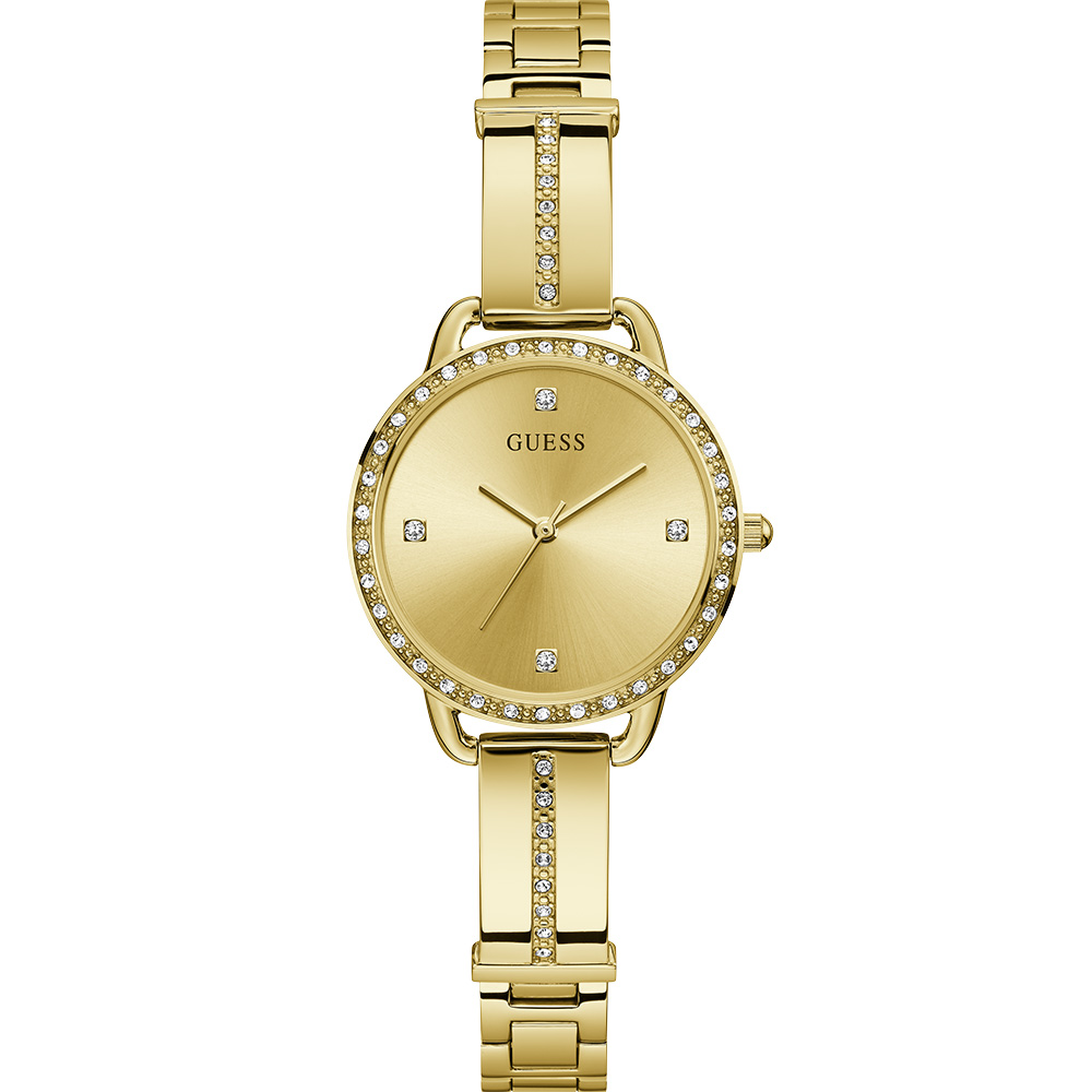 Guess Bellini GW0022L2 Stone Set Gold Tone Womens Watch