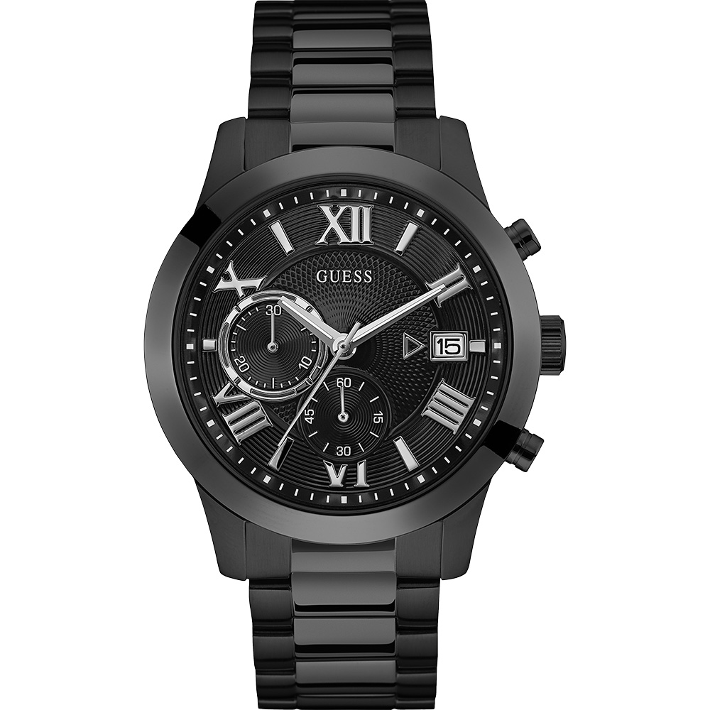 Guess Atlas W0668G5 Black Mens Watch