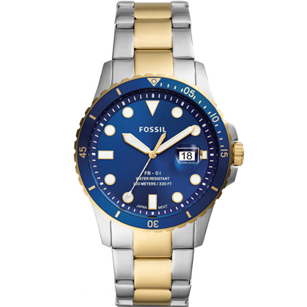 Fossil FB-01 Two Tone Mens Watch