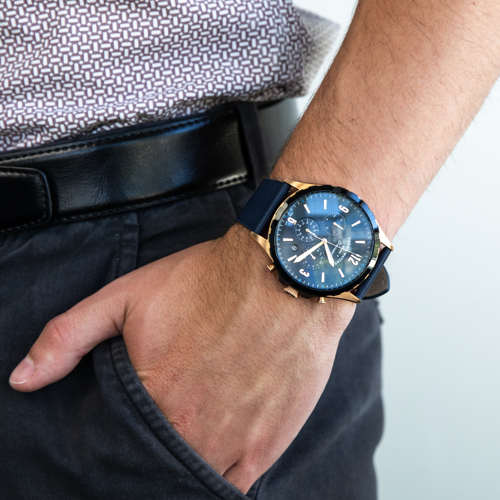 Fossil Forrester FS5814 Chronograph Blue Mens Watch