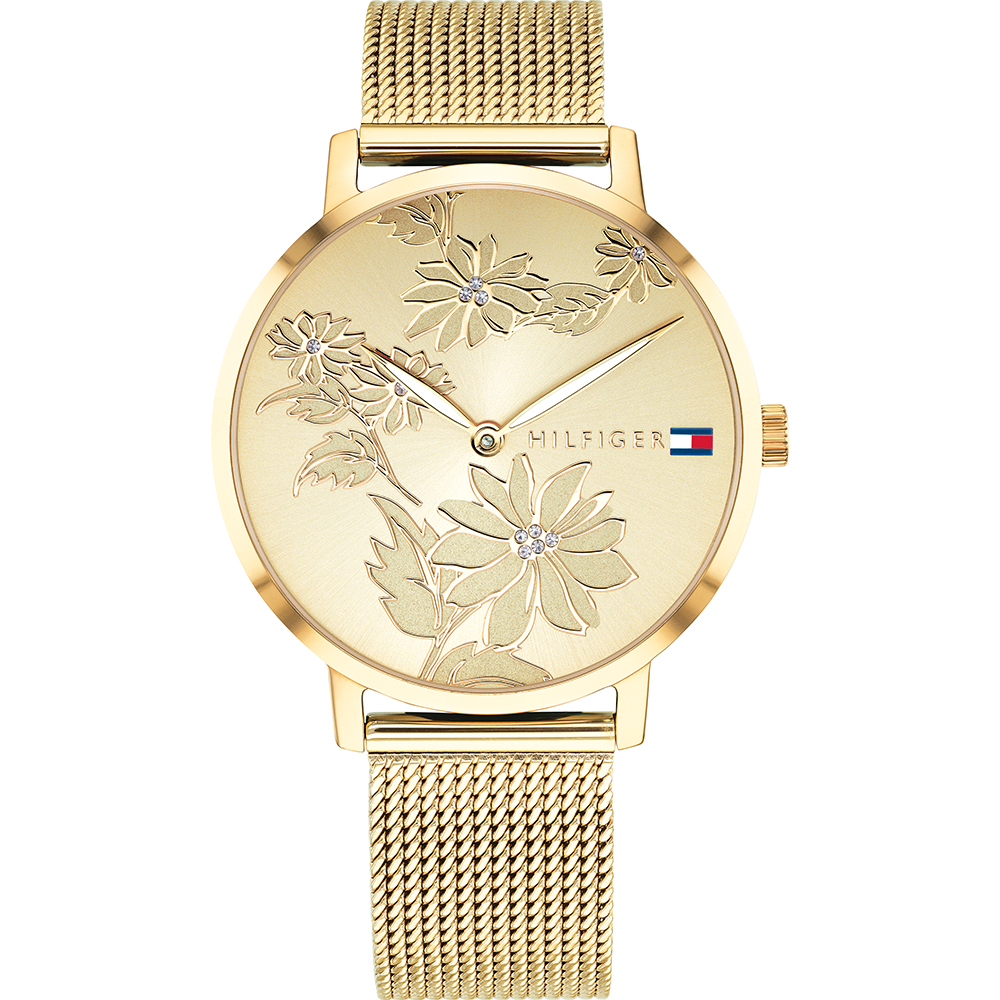 Tommy Hilfiger Pippa 1781921 Gold Tone Floral Womens Watch