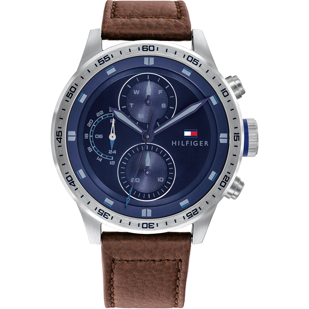 Tommy Hilfiger Trent 1791807 Brown Leather Mens Watch
