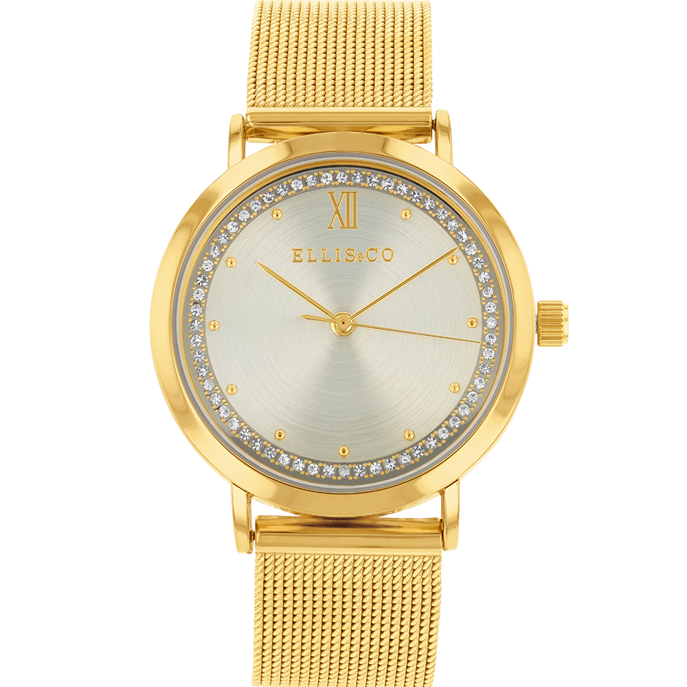 Ellis & Co Gold Plated Womens Watch