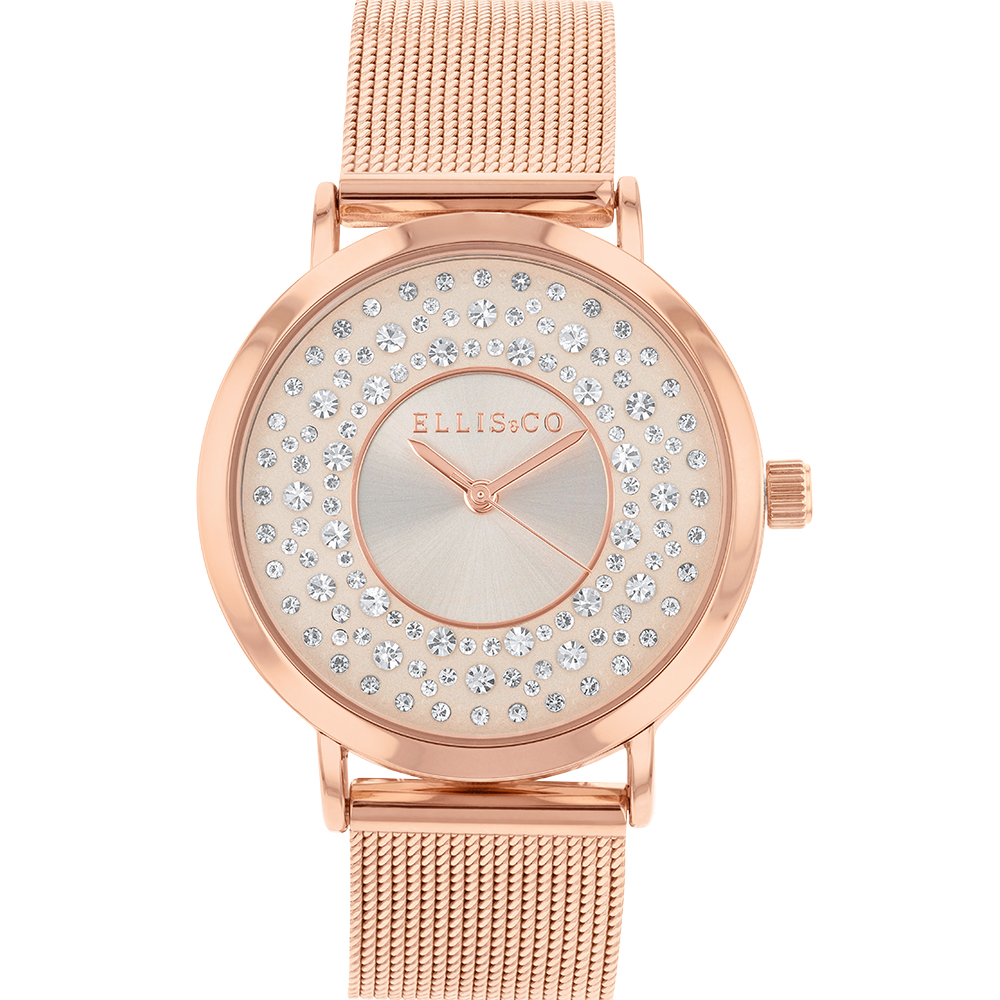 Ellis & Co Rose Gold Plated Womens Watch