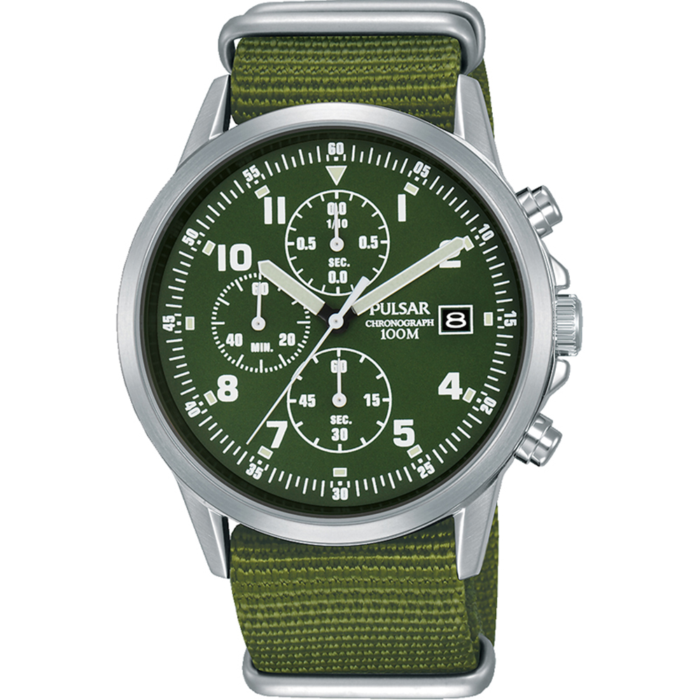Pulsar PM3127X Chronograph Green Nato Strap