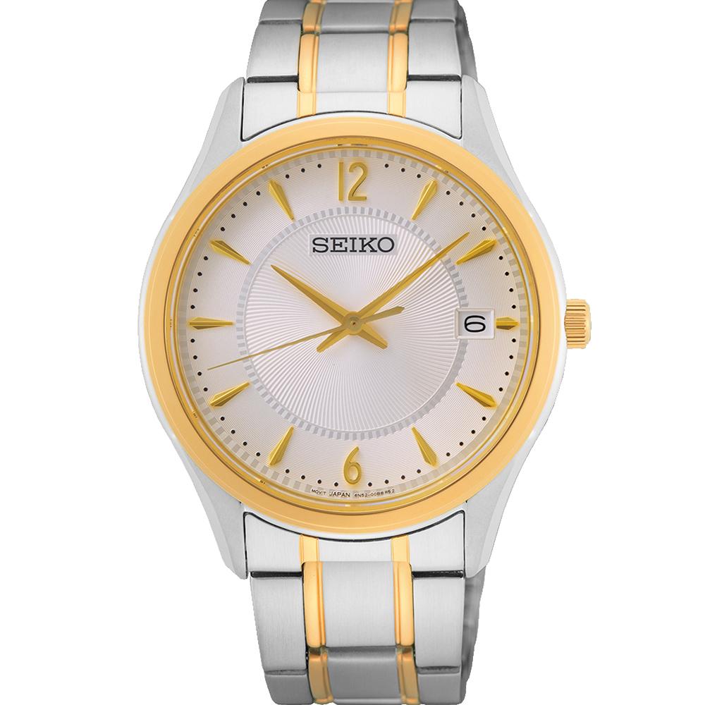 Seiko SUR468P Two Tone Mens Watch