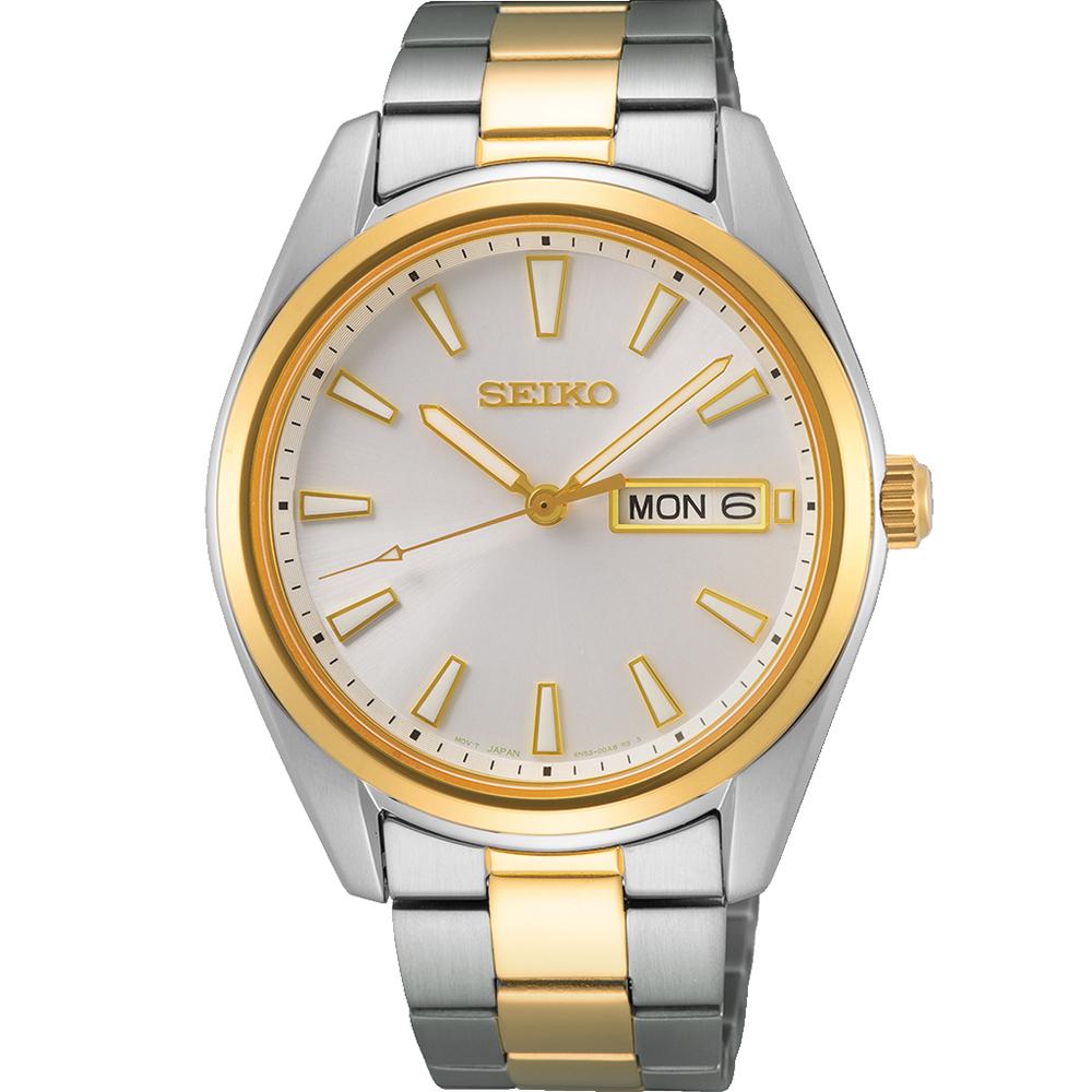 Seiko SUR446P Two Tone Mens Watch