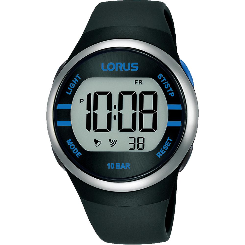 Lorus R2337NX-9 Black Digital Mens Watch