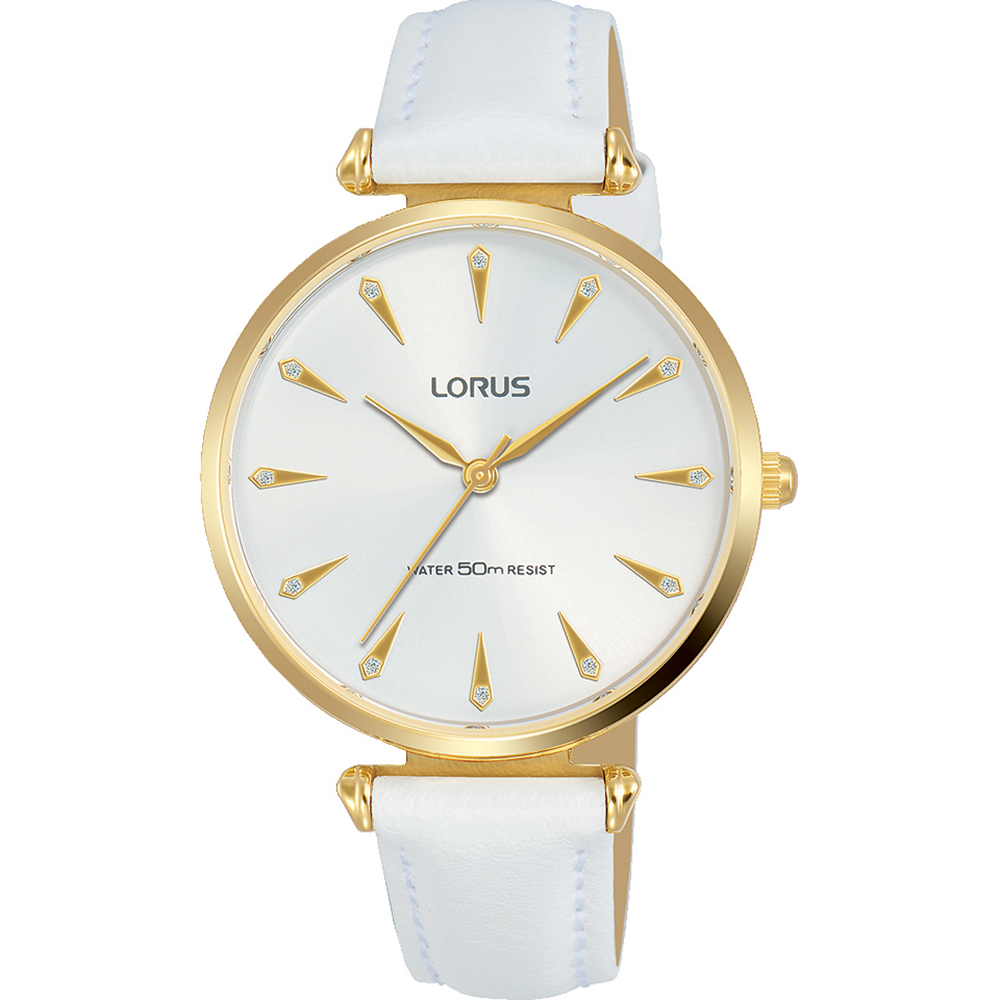 Lorus RG240PX-8 White Leather Womens Watch