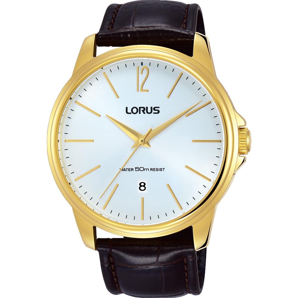 Lorus RS912DX-9 Dark Brown leather Mens Watch