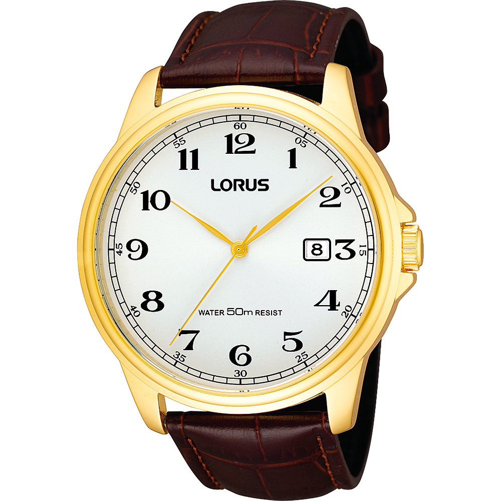 Lorus RS982AX-9 Brown Leather Mens Watch