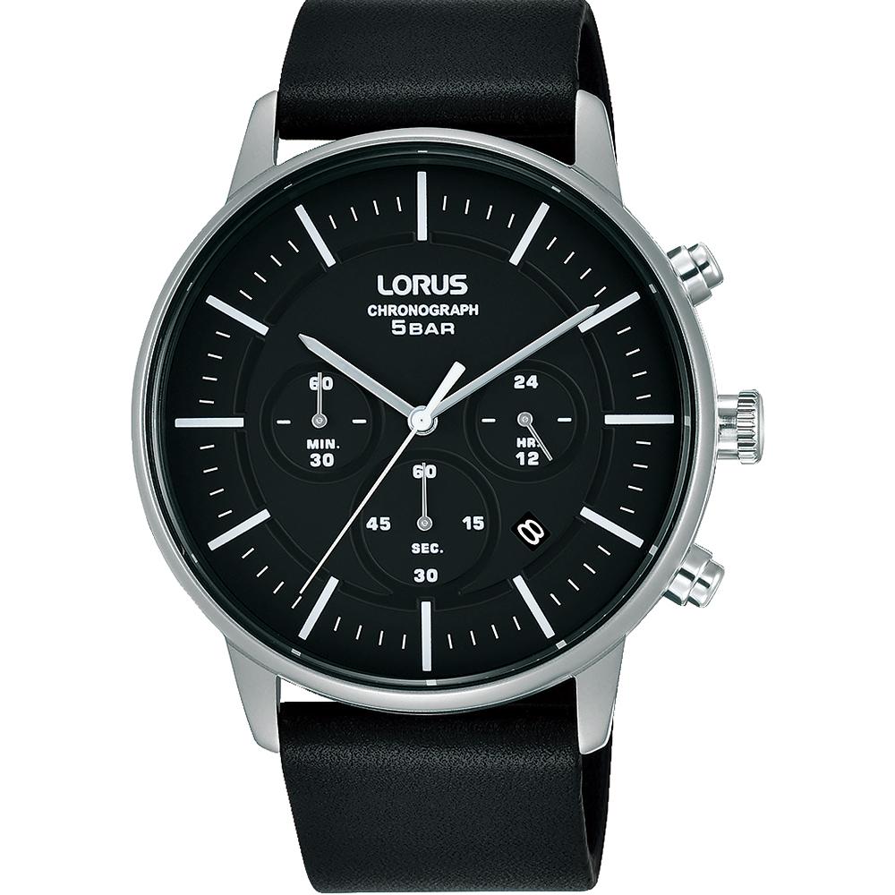 Lorus RT307JX-9 Black Chronograph Mens Watch