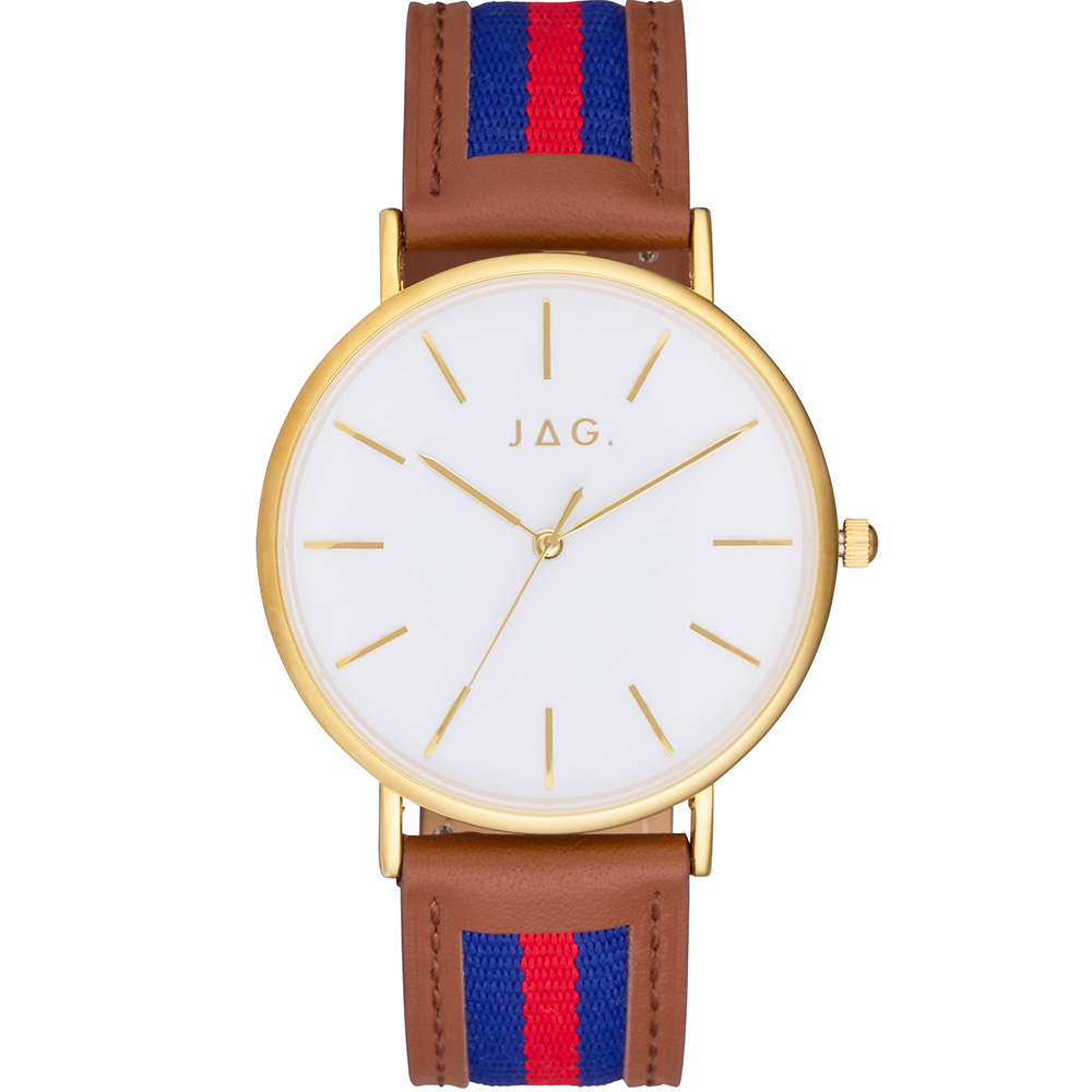 JAG J2402 Daniel Blue and Red Striped Mens Watch