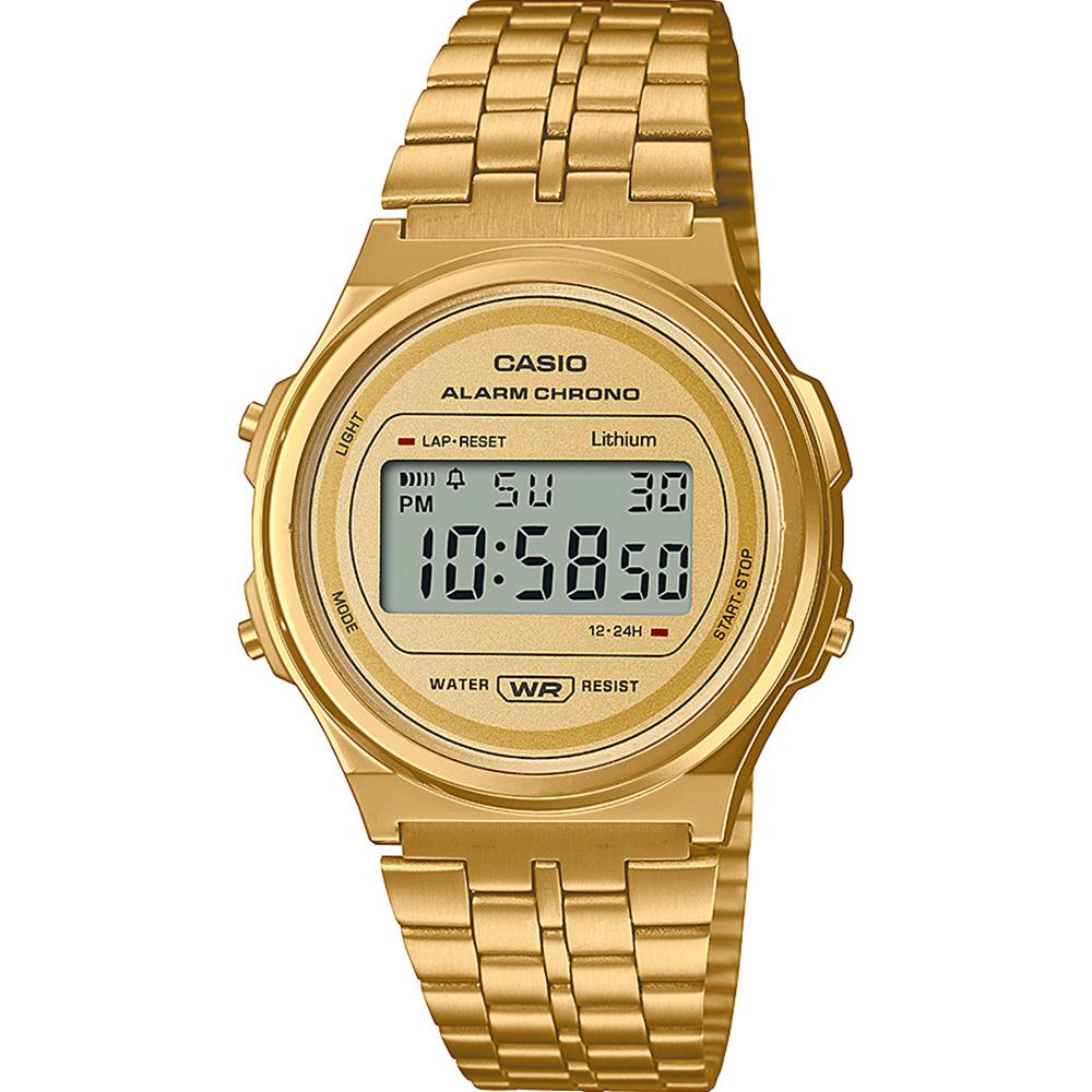 Casio A171WEG-9 Vintage Digital Gold Tone Watch