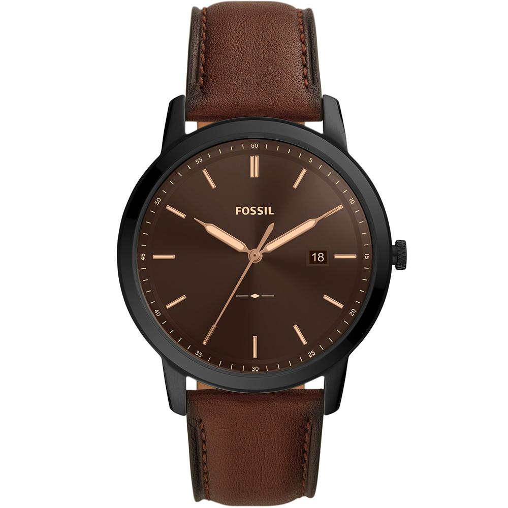 Fossil FS5841 Minimalist Brown Leather Mens Watch