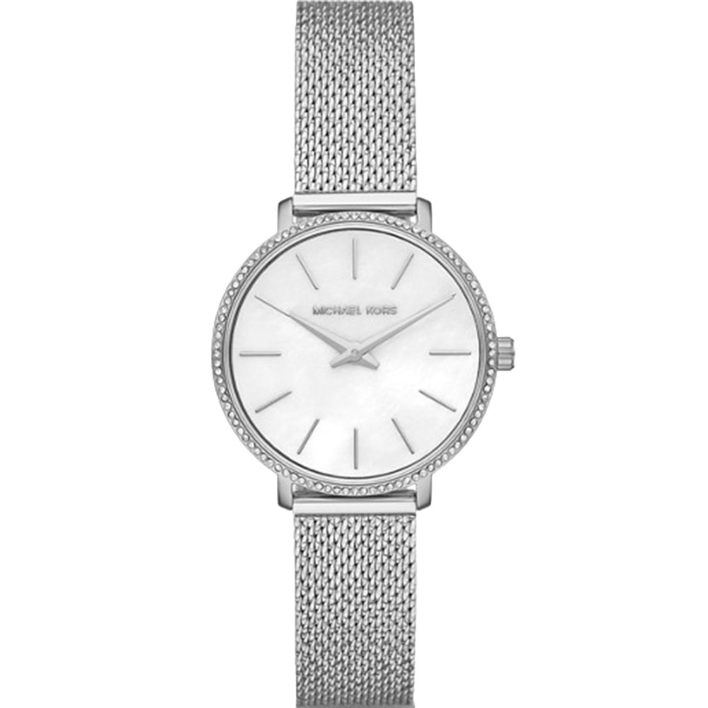 Michael Kors MK4618 Silver Tone Mesh Band Womens Watch