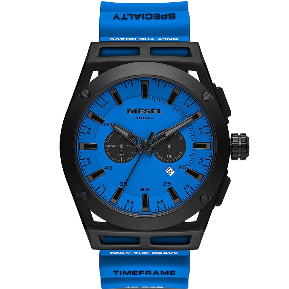 Diesel Timeframe Chronograph DZ4545 Blue Silicone