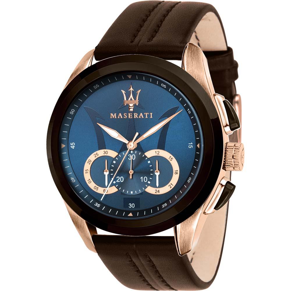 Maserati R8871612024 Traguardo Blue Dial Chronograph Mens Wacth