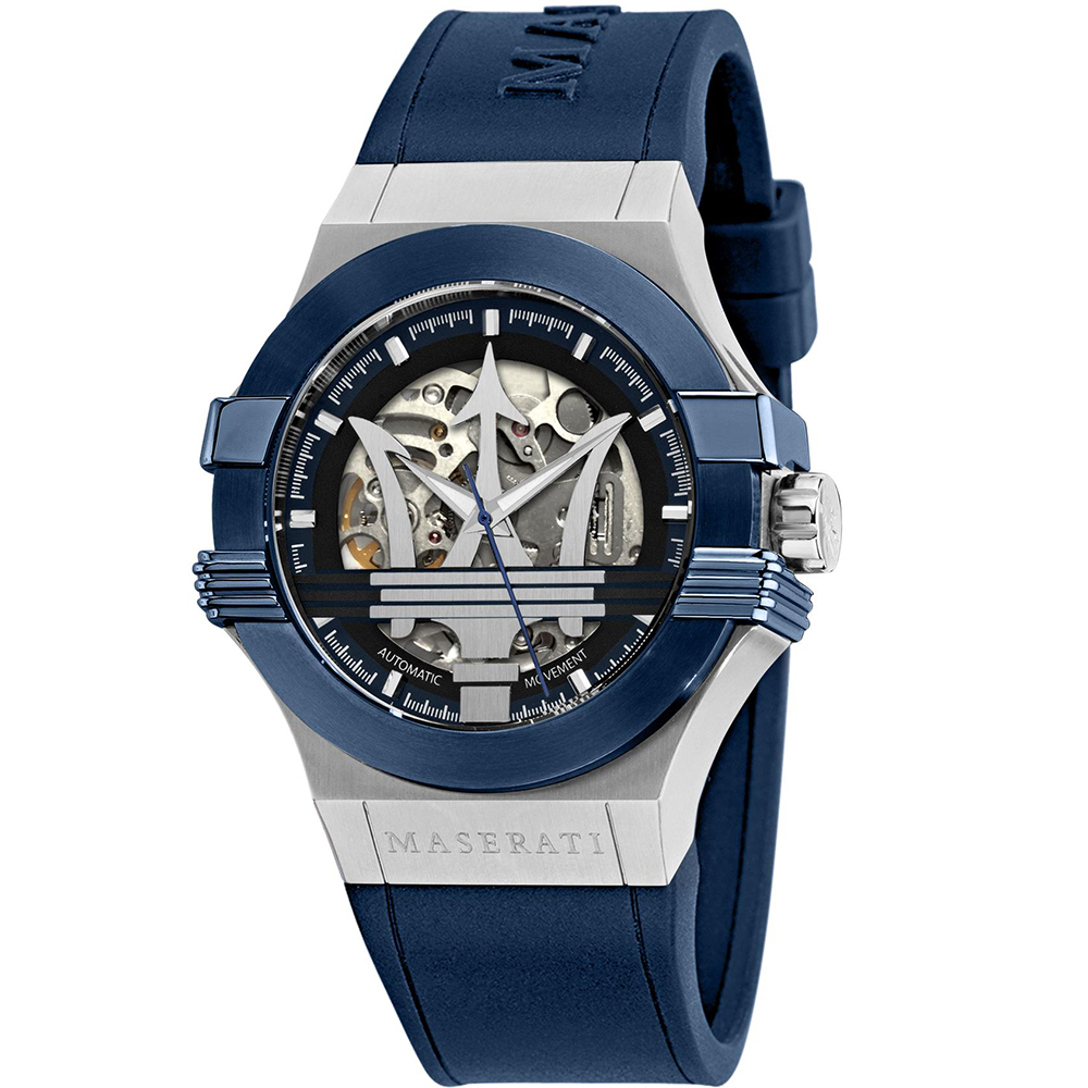 Maserati R8821108035 Potenza Skeleton Automatic Mens Watch