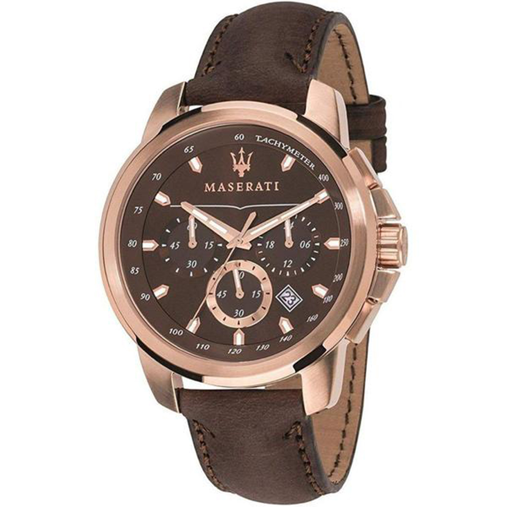 Maserati R8871621004 Successo  Brown Chronograph mens Watch
